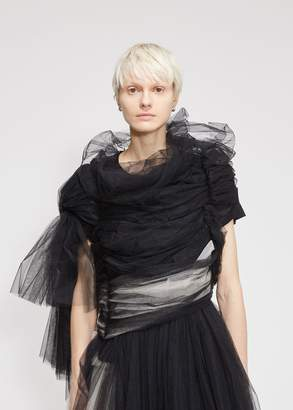 Comme des Garcons Tricot Gathered Tulle Dress