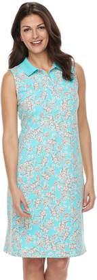 Croft & Barrow Women's Print Polo Dress