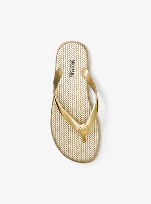 MICHAEL Michael Kors Jet Set Metallic Jelly Flip-Flop