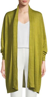 eskandar Lightweight Knit Linen Cardigan