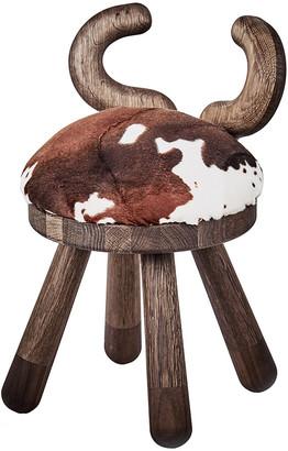 EO Faux Fur Chair - Cow