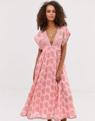 Free People Riakaa paisley print maxi dress