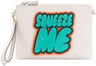 Anya Hindmarch Squeeze Me print clutch bag