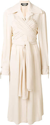 Jacquemus wrap front trench dress