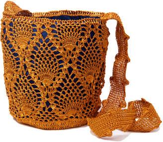 Cooperativa Shop Verdi Design Orange Crochet Bucket Bag