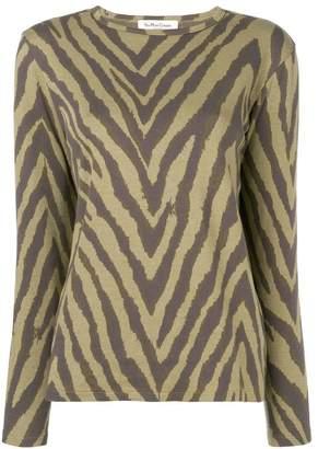 YMC zebra print sweatshirt