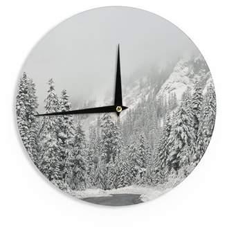 "East Urban Home Robin Dickinson 'Winter Wonderland' 12"" Wall Clock"