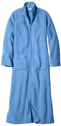 L.L. Bean L.L.Bean Women's Winter Fleece Robe, Zip-Front