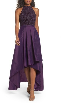 Women's Adrianna Papell Embellished Taffeta High/low Gown $349 thestylecure.com
