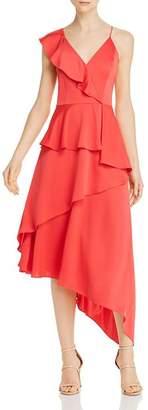 Aidan Mattox Charmeuse Asymmetric Dress