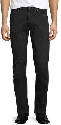 J Brand Tyler Torn & Thrashed Denim Jeans, Black $228 thestylecure.com