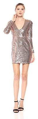 Glamorous Women's Sequin Deep V Dress