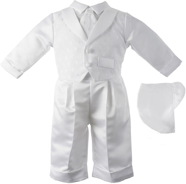 Haddad Keepsake Vested Christening Set - Boys newborn-24m