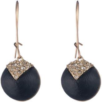 Alexis Bittar Crystal Encrusted Origami Dome Earrings