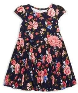 Little Girl's Floral Print A-Line Dress