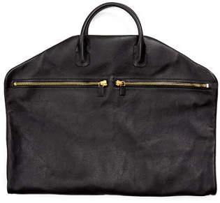 Tom Ford Buckley Soft Leather Garment Bag, Black