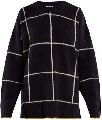 Elizabeth and James Fionn windowpane-checked oversized sweater