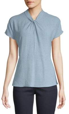 Vince Camuto Knotted Textured Top