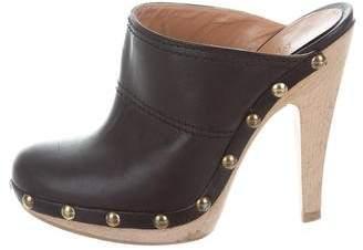 Max Mara Leather Round-Toe Mules