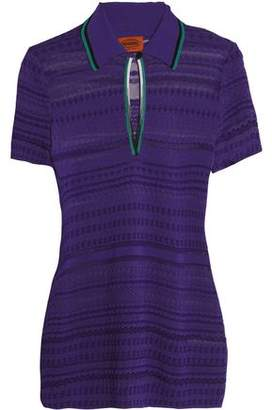 Missoni Crochet-Knit Polo Shirt