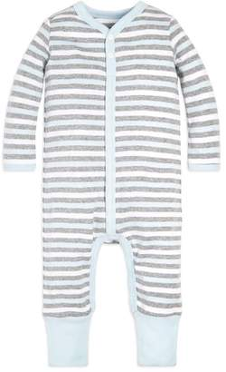 12533a00d Burt's Bees Baby Multi Stripe Snap Front Organic Coverall