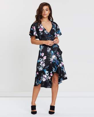 Lipsy Amelia Print Floral Wrap Dress