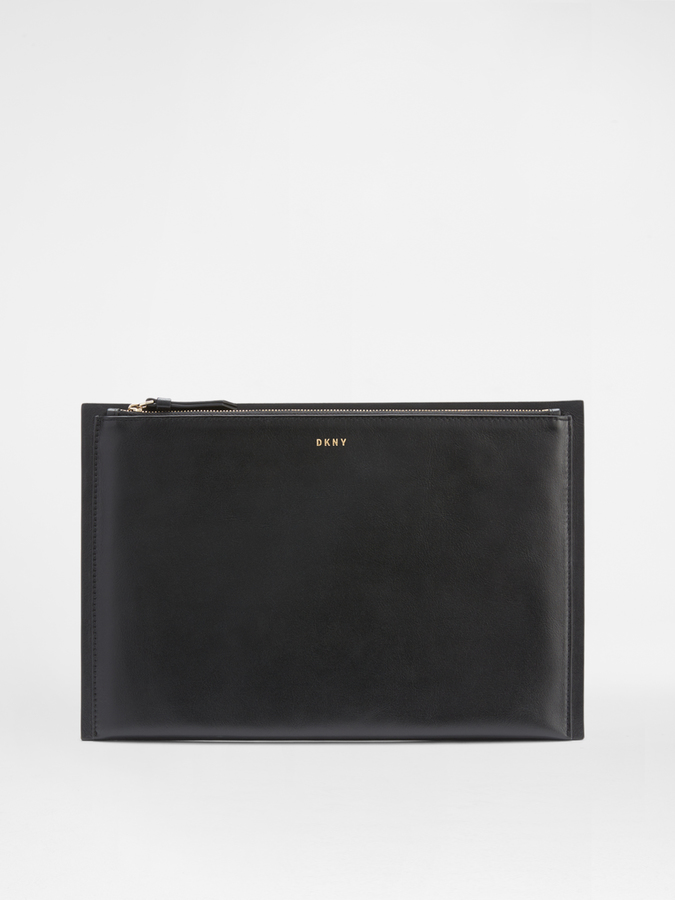 DKNYCalf Large Clutch