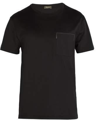 Berluti - Leather Trim Pocket Crew Neck T Shirt - Mens - Black