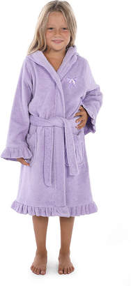 Asstd National Brand Linum Kids 100% Turkish Cotton Hooded Terry Bathrobe With Ruffle - Bow Design