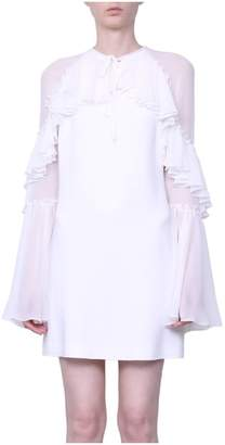 Giamba Ruffled Crepe Dress