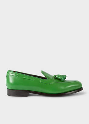 Paul Smith Men's Green Leather 'Simmons' Tasseled Loafers