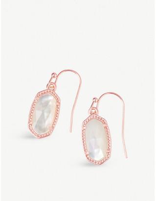 Kendra Scott Lee 14ct rose gold-plated ivory pearl drop earrings