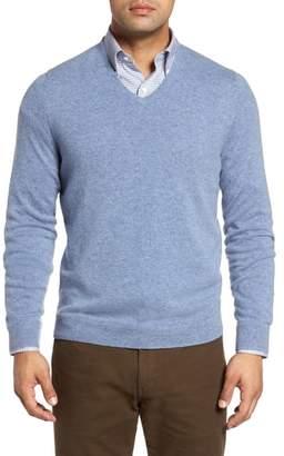 John W. Nordstrom R Cashmere V-Neck Sweater