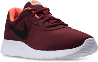 Nike Men's Tanjun Premium Casual Sneakers from Finish Line $69.99 thestylecure.com