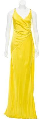 Versace Draped Ruched-Accented Dress