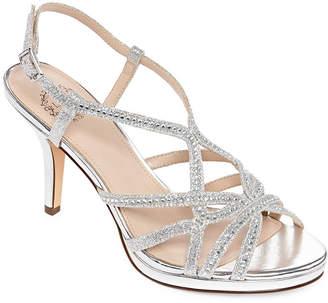 NINA SHOES I Miller Shoes Womens Vilina Pumps Buckle Open Toe Cone Heel