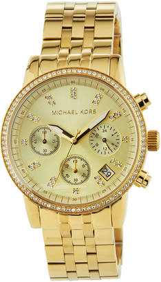 MICHAEL Michael Kors Crystal Chronograph Bracelet Watch