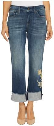 NYDJ Petite Petite Marilyn Ankle w/ Applique Cuff in Desert Gold Women's Jeans