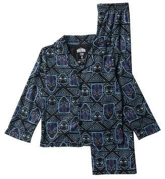AME Black Panther Button Front Pajama Set (Little Boys & Big Boys)