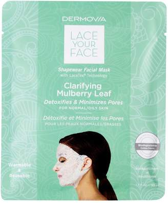 Mulberry Dermovia Lace Your Face Clarifying Leaf Compression Facial Mask