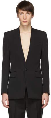 Givenchy Black Collarless Tuxedo Blazer