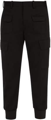 Neil Barrett Low-rise slim-leg crepe cargo trousers