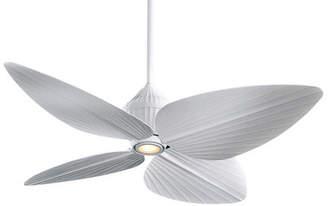 "Minka Aire Ceiling Fans Minka Aire 52"" Gauguin Tropical 4 Blade Outdoor LED Ceiling Fan"