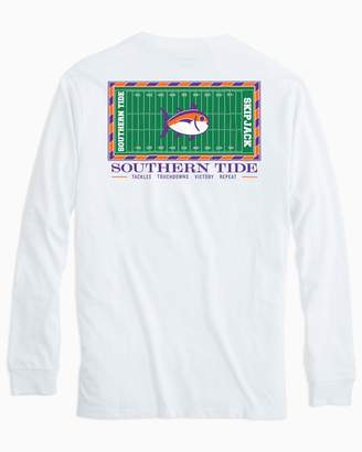 Southern Tide Gameday Football Stadium Long Sleeve T-shirt - Clemson University