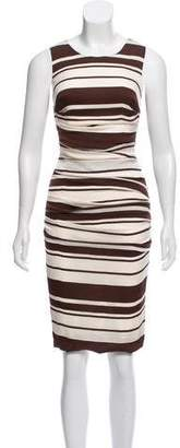 Dolce & Gabbana Ruched Striped Dress w/ Tags