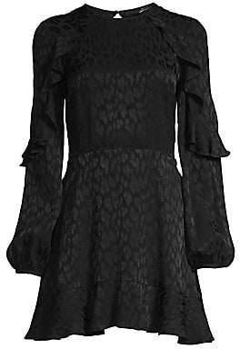 Jay Godfrey Women's Gerry Tie-Back Flounce Dress