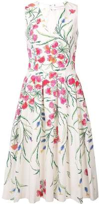 Carolina Herrera pleated floral dress