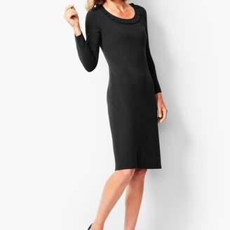 dae7b6cbcd9f Talbots Jewel-Neck Sweater Shift Dress