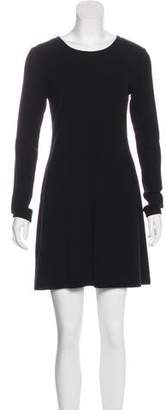 Reformation Long Sleeves Crew Neck Dress