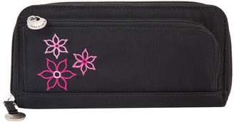 Travelon RFID Blocking Bouquet Zip-Around Travel Wallet